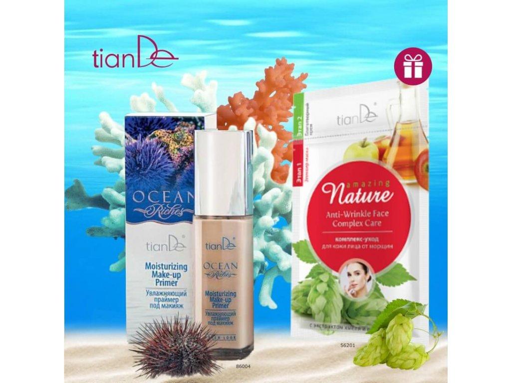AKCE Hydratační báze pod make-up Ocean Riches + DÁREK Pleťová maska Komplexní péče o pleť proti vráskám