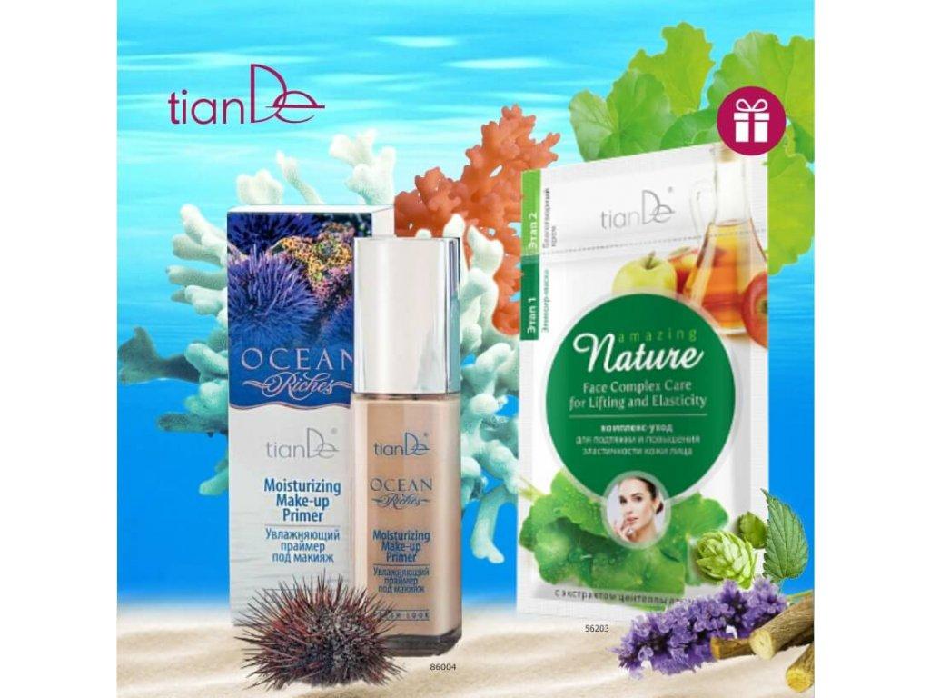 AKCE Hydratační báze pod make-up Ocean Riches + DÁREK Pleťová maska Komplexní péče na zpevnění a zlepšení pružnosti pleti