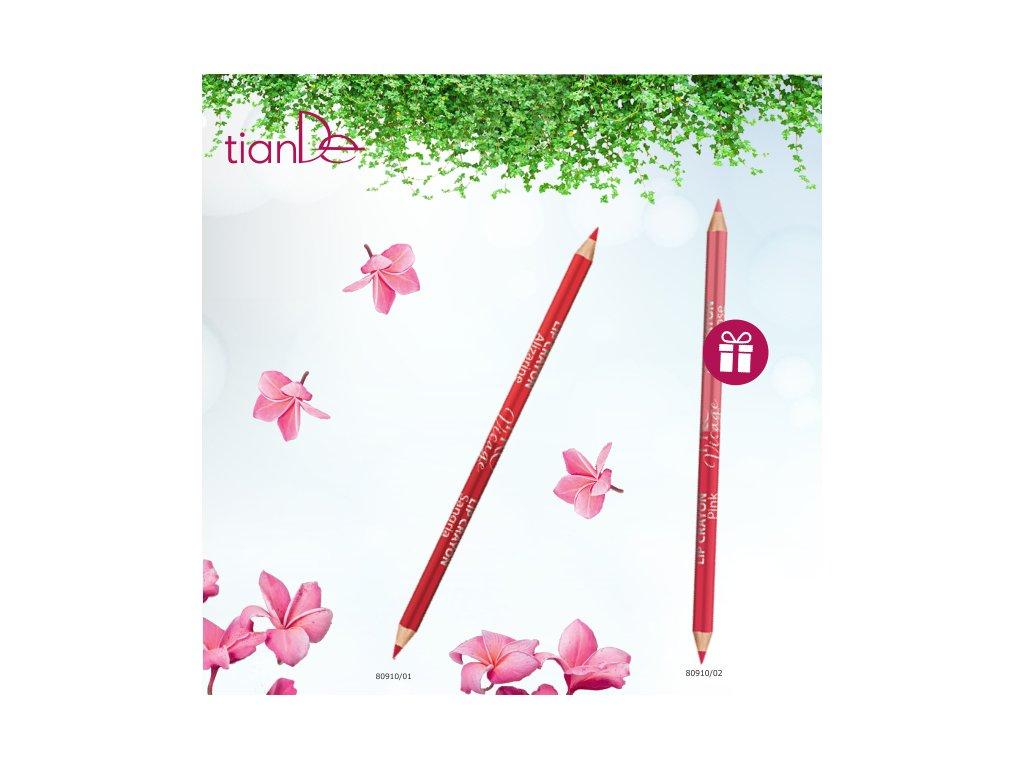 AKCE Oboustranná tužka na rty Alizarine & Sangria + DÁREK Oboustranná tužka na rty Pink & Begie Rose