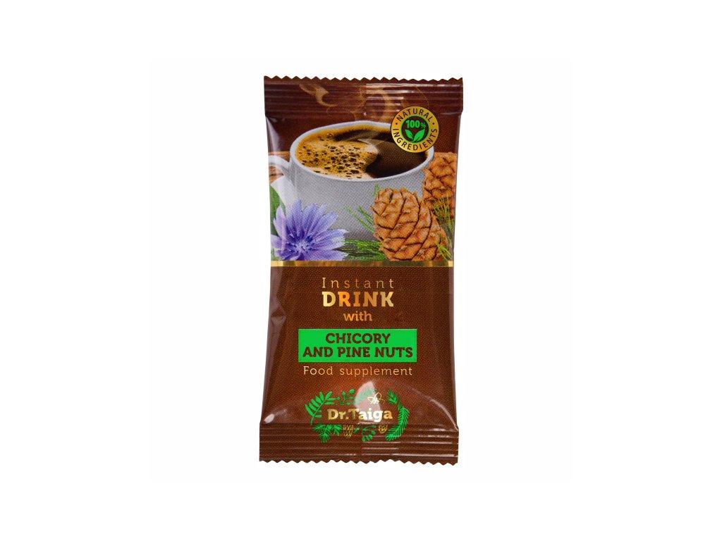 Rozpustný čekankový nápoj s extrakty parchy saflorové a rezavce šikmého