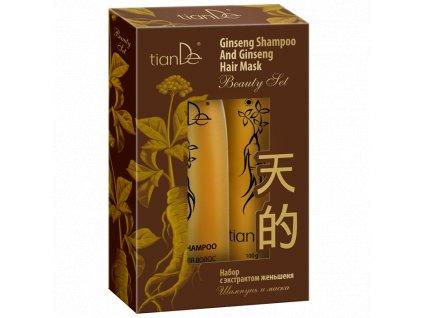 Sada šampon a maska s extraktem ženšenu 220 g + 100 g  Body: 6,6