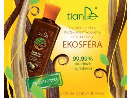 Šampón na vlasy na základě mýdlového ořechu