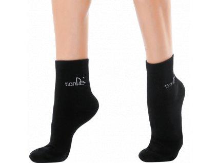Bavlněné ponožky s bodovou aplikaci turmalínu 1 pár vel. 22 cm  Body: 8,8