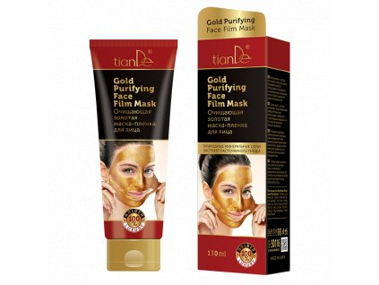 Čisticí zlatá slupovací pleťová maska na obličej 130ml  Body: 8,0