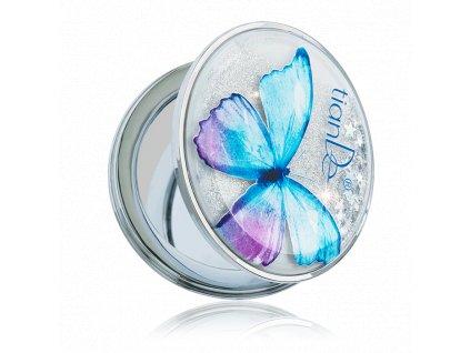 Kapesní kosmetické zrcátko TianDe kulaté s motýlem 1 ks  Body: 2,7