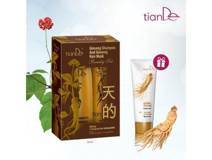 AKCE Sada šampon a maska s extraktem ženšenu + DÁRE Krém na ruce Zlatý ženšen  Body: 6,6