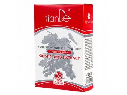 Funkční komplex s hroznovými semínky přispívají k normální funkci krevních cév - 1ks/30 tablet  Body: 10,1