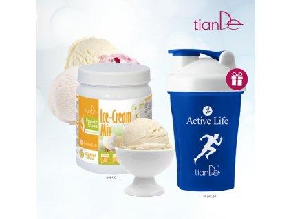 15. Proteinový kokteil vanilka Shaker 90167 modrý