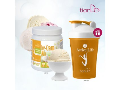 15. Proteinový kokteil vanilka Shaker 90167 oranžový