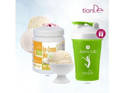 15. Proteinový kokteil vanilka Shaker 90167 zelený