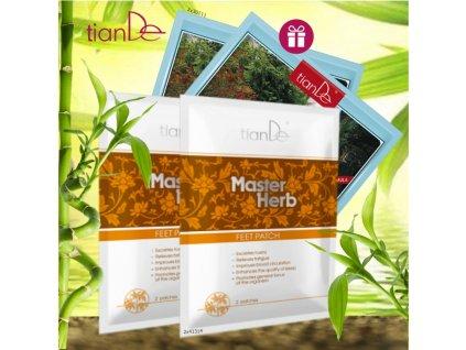 AKCE Náplast na nohy pro očistu organismu Master Herb 2 ks + DÁREK Kosmetická tělová fytonáplast Yaoshen Forte