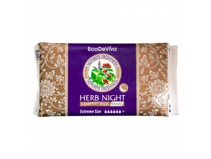 Dámské bylinné noční vložky Maxi, 4ks EcoDeViva  Body: 7,0