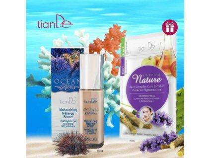 AKCE Hydratační báze pod make-up Ocean Riches + DÁREK Pleťová maska Komplexní péče o pleť náchylné k pigmentaci