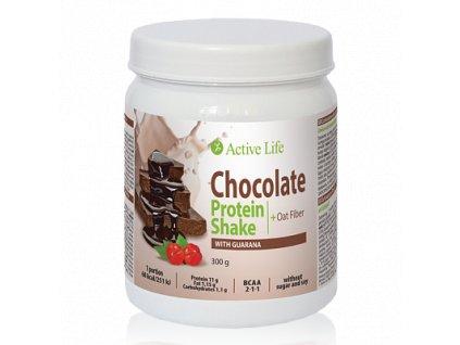 Čokoládový proteinový koktejl Active Life Mix s guaranou 300g