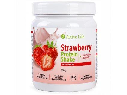 Jahodový proteinový koktejl Active Life Mix s inulinem 300g  Body: 19,5