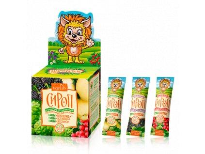 Sirup s ovocnými šťávami a vitamíny pro děti, 21 ks x 10g  Body: 6,0