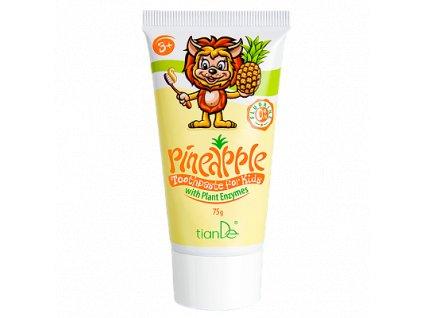 """Dětská zubní pasta """"Ananas"""" s rostlinnými enzymy 75 g  Body: 3,3"""