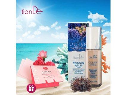 AKCE Hydratační báze pod make-up Ocean Riches + DÁREK Pleťové matující papírky Něžná růže