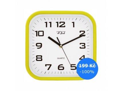 H7260Y žluté nástěnné hodiny