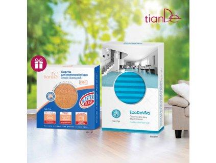 AKCE Oboustranný hadr na podlahu, 1ks Eco De Viva + DÁREK PROFI utěrka na komplexní čištění