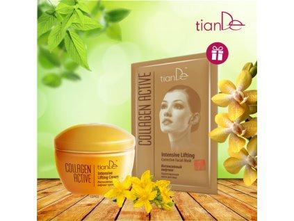 AKCE Intenzivní liftingový krém Collagen Active + DÁREK Korigující maska na obličej Intenzivní lifting Collagen Active  Body: 9,0