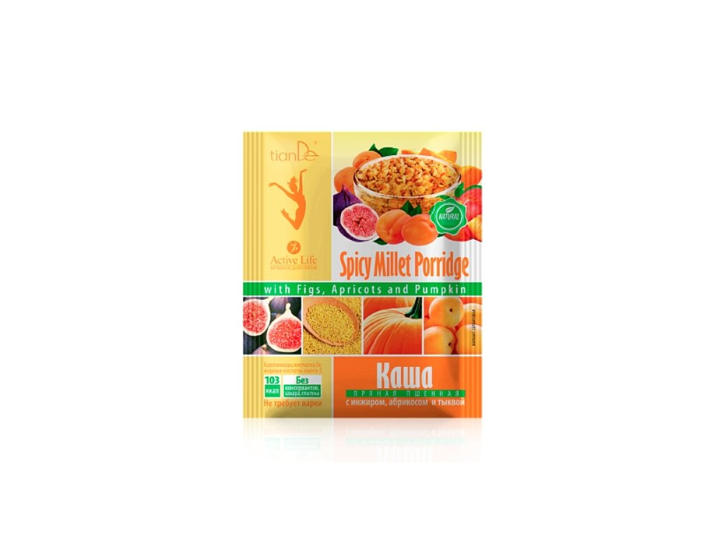 Jahelná kaše s fíky meruňkami a dýní