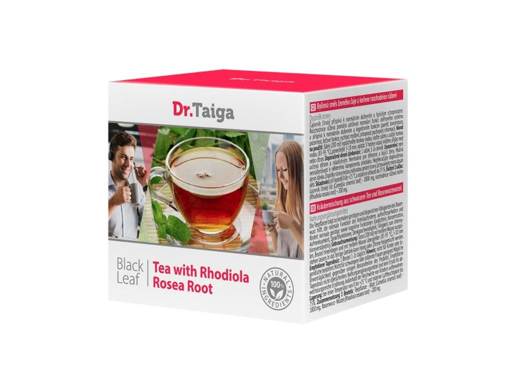 Bylinná směs černého čaje a kořene rozchodnice růžové