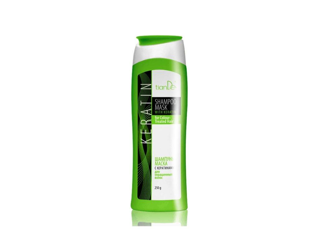 Šampon maska s keratinem pro barvené vlasy