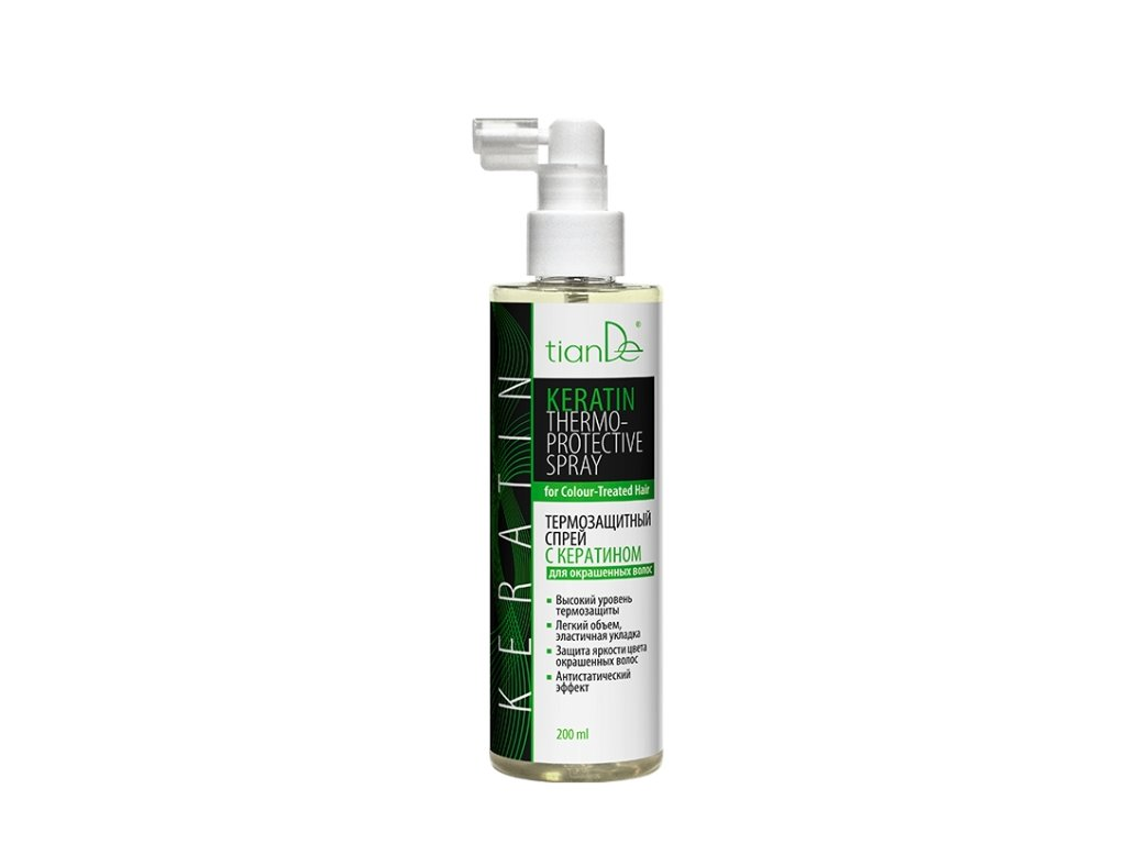 Termoochranný sprej s keratinem pro barvené vlasy