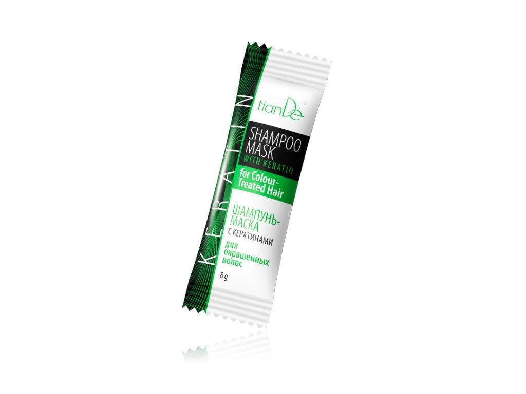 Šampon maska s keratinem pro barvené vlasy mini