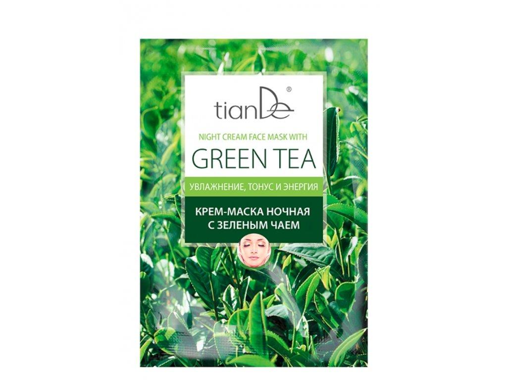Noční krémová maska na obličej se zeleným čajem