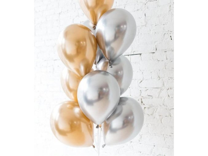 16257 10 ks mix balonikov zlato strieborne na party narodeniny