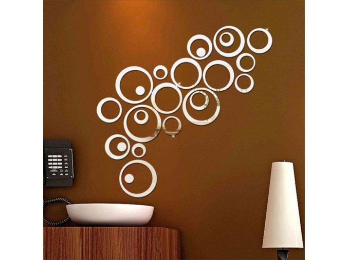 3D samolepicí dekorace - různé barvy - SLEVA 50% (Barva Stříbrná)