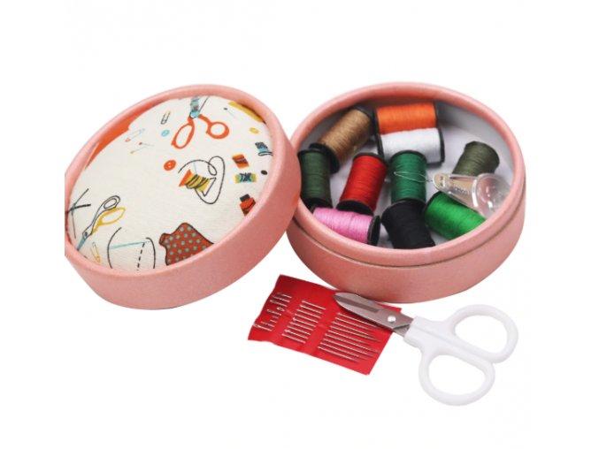 Cestovná šijacie sada, box-dve farby (Farba Biela)