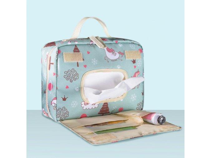 Cestovná taška na prebaľovanie bábätiek (Farba Mix)