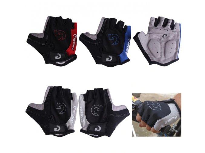 Cyklistické rukavice- v troch farbách (Farba Červená, Velikost S)