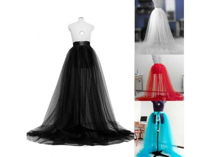 Dámska dlhá tutu sukne na svadbu, ples- viac farieb (Farba Biela)