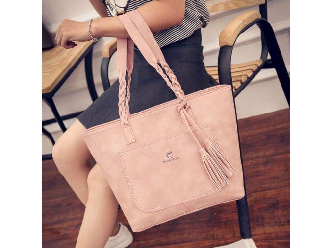 Dámská kožená kabelka - různé barvy - SLEVA 50% (Typ 4)