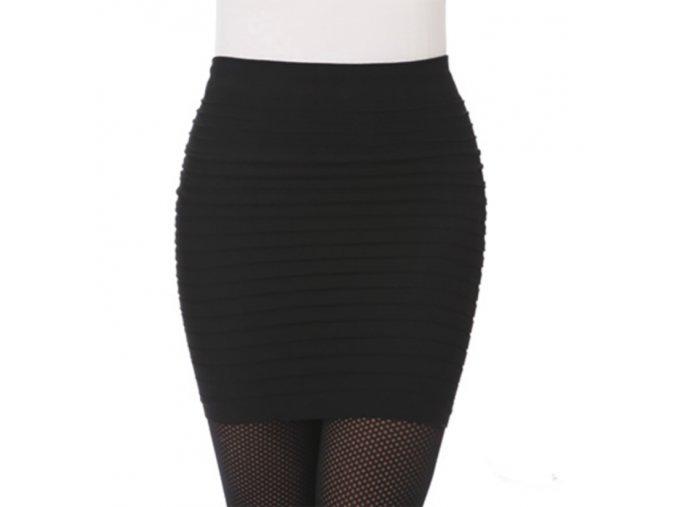 Krátká moderní dámská sukně - různé barvy - SLEVA 35% (Barva Šedá)