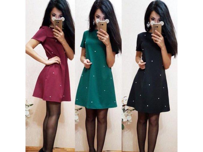 Stylové dámské mini šaty (Barva Zelená, Velikost 3XL)