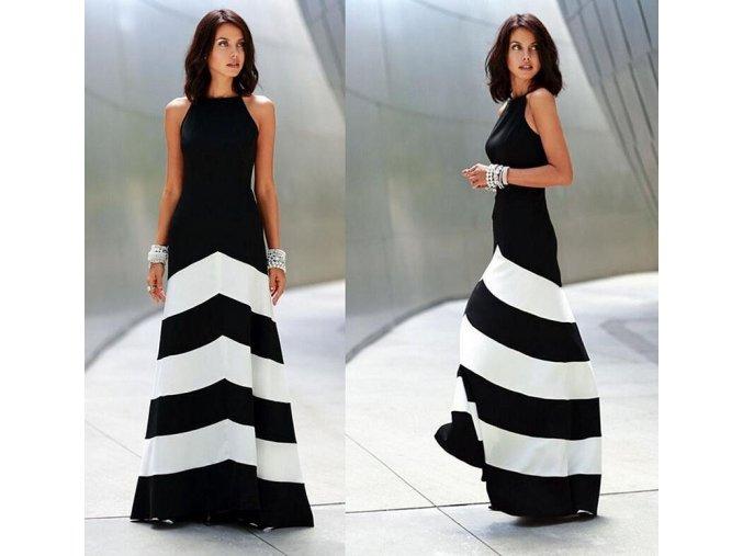 Dlouhé elegantní šaty bez výstřihu až 2XL (Velikost XXL)