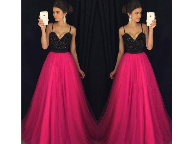 Dámské dlouhé tylové plesové večerní šaty NEW (Vel XL)
