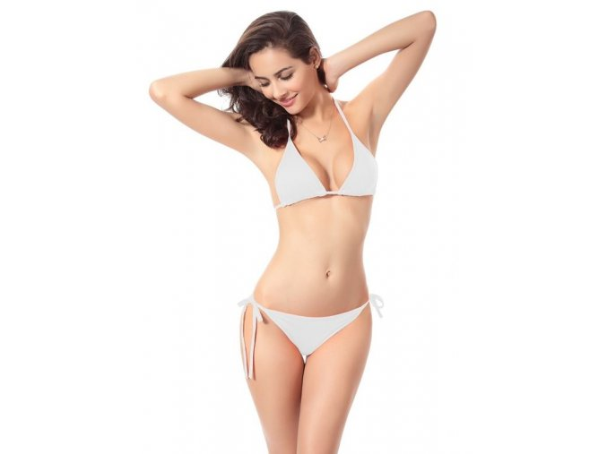Dámské dvoudílné plavky ve všech barevných variantách bílé (Velikost XL)