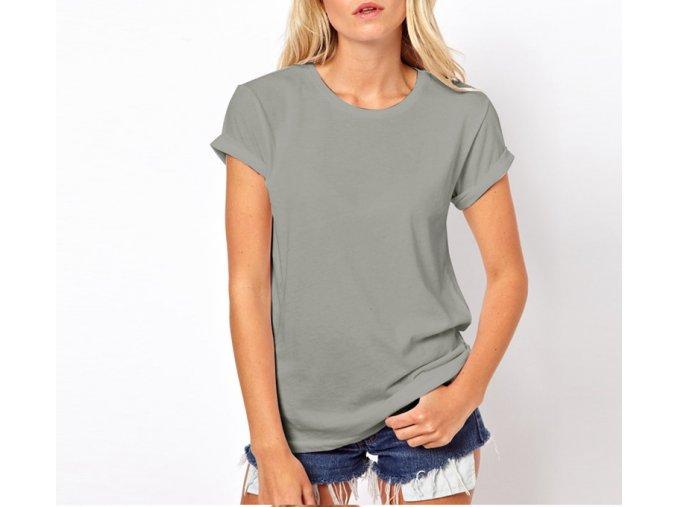 Dámské extra elegantní podzimní tričko s Andělskými křídly šedé + DOPRAVA ZDARMA (Velikost XXL)