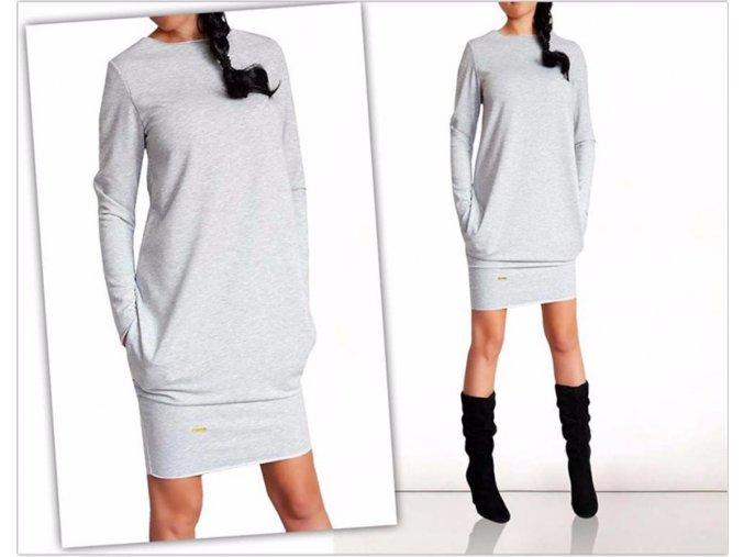 Dámské podzimní sportovní šaty pro plnoštíhlé až 3XL (Vel XXL)