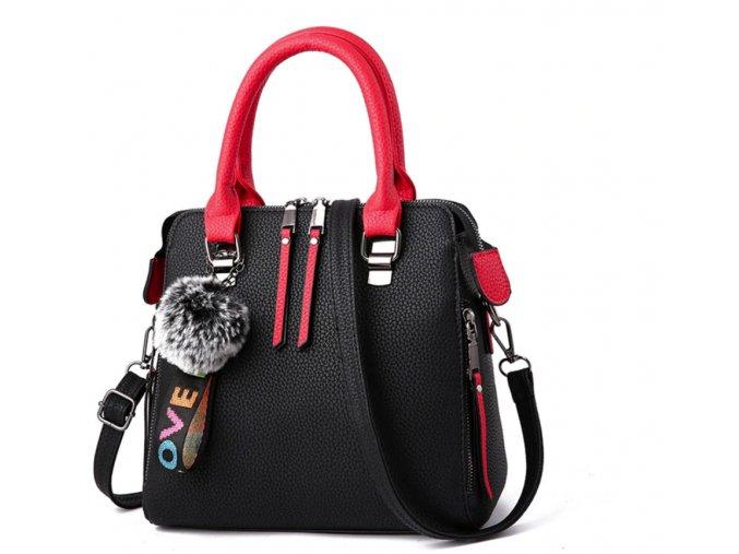 Dámske kabelky- dámske lacné kabelky s brmbolcom viac farieb - Darčeky pre ženy (Farba Červená)