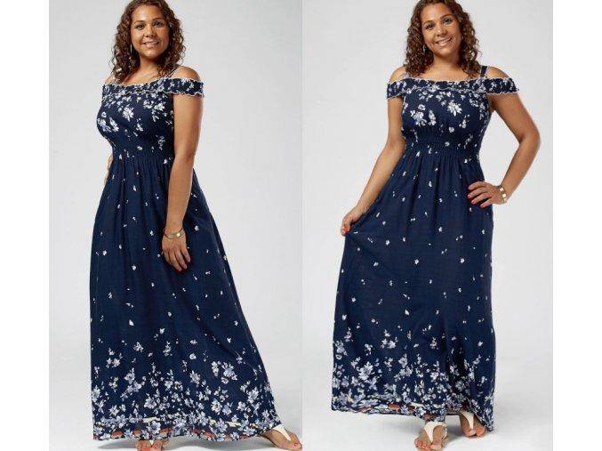 Dámske letné romantické šaty pre plnoštíhle až 5XL (Velikost 3XL)