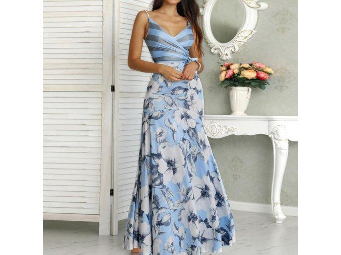 Dámske luxusné dlhé plesové šaty až 2XL (Velikost L)