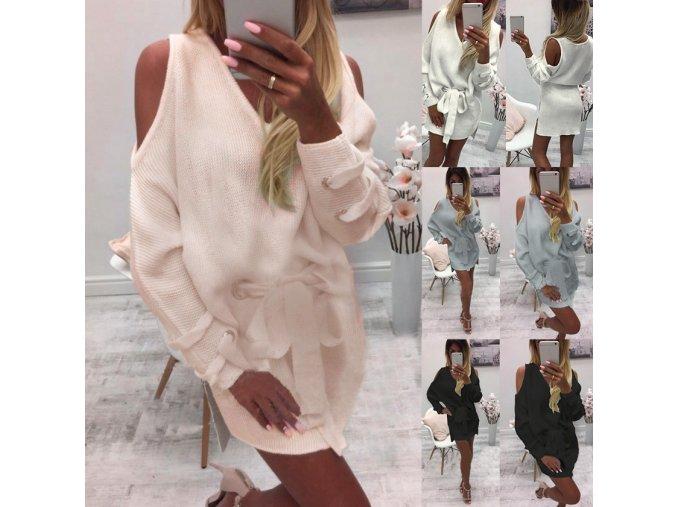 Dámské luxusné pohodlné zimné šaty více barev (Farba Biela, Velikost S)