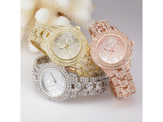 Luxusní dámské hodinky - různé barvy - SLEVA 40% (Barva Zlatá)